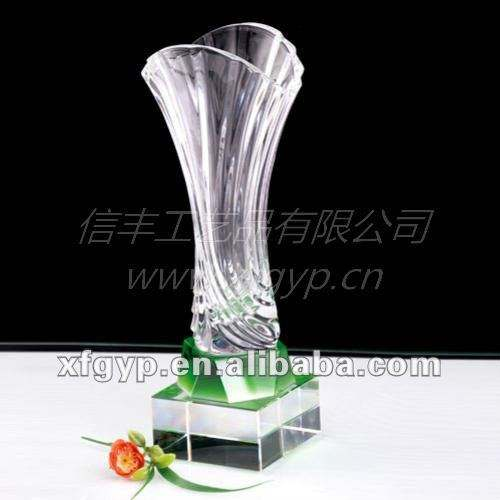 novo design antigo vaso de cristal pilar copos troféu