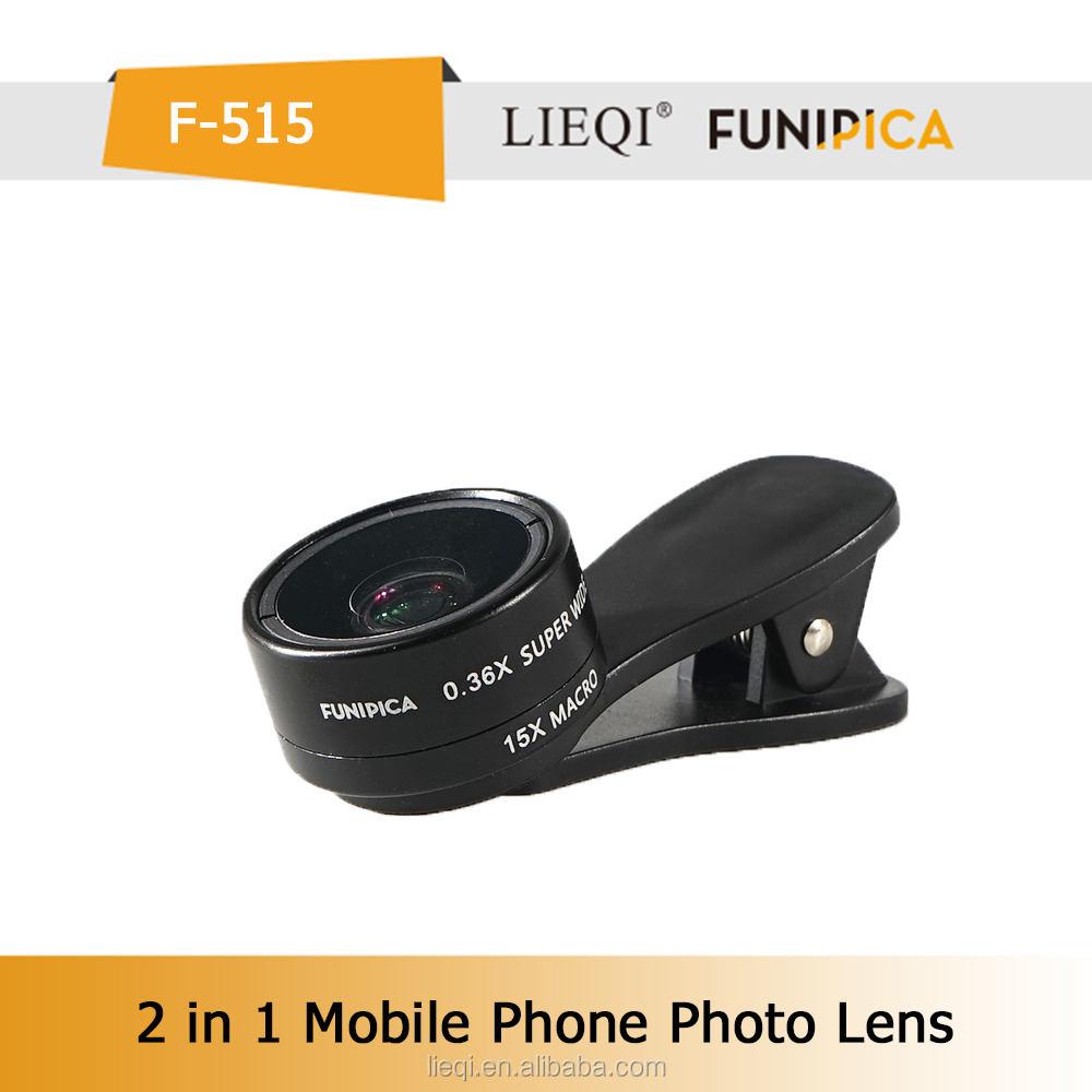 <span class=keywords><strong>Nuovo</strong></span> arrivo 0.36x super grandangolo macro 15x 2 in 1 universale clip lente per la fotocamera del cellulare