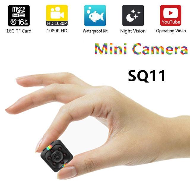 SQ11 Mini Camera 1080 P Sport DV Mini DV Hồng Ngoại Night Vision màn hình Giấu Máy Ảnh nhỏ SQ 11 nhỏ máy ảnh DV Video ghi