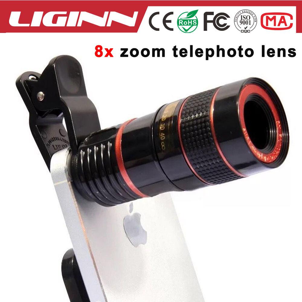 LIGINN Vendita Caldo Per Tutti Smart Phone Regolabile 8x Zoom Teleobiettivo Lens Lens Telefono Mobile Con Clip Universale