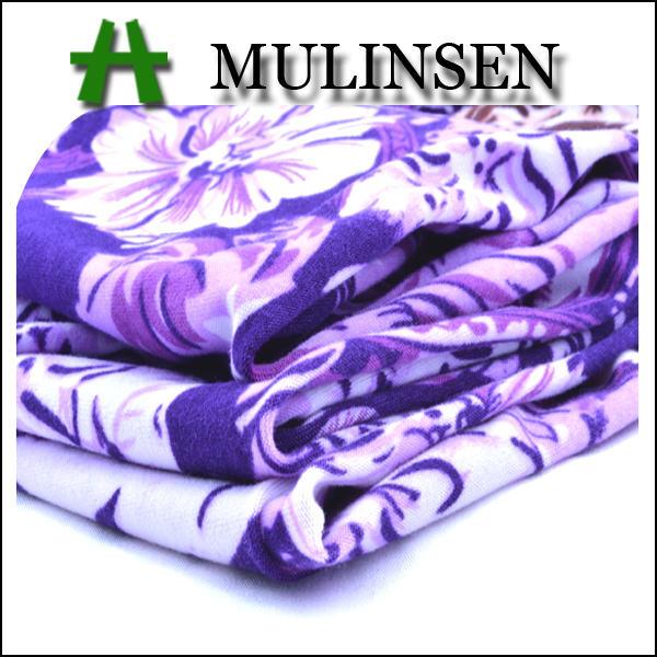 Mulinsen Tekstil Örgü DTY Baskılı Fırça Tek Jersey 100 Polyester <span class=keywords><strong>Triko</strong></span> Fırçalanmış Kumaş