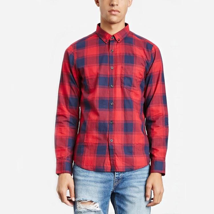 Пользовательские фланелевые мужские клетчатые рубашки