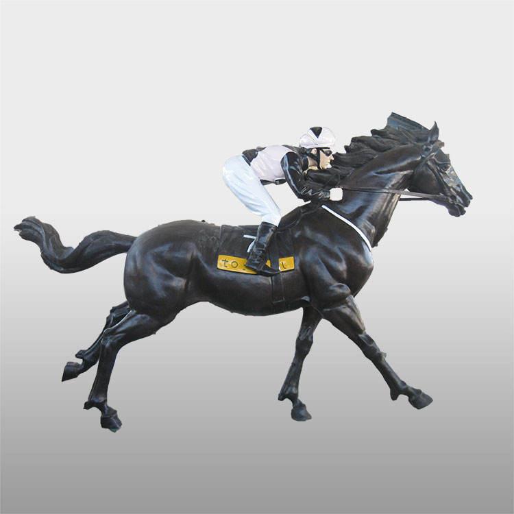 Vida tamaño <span class=keywords><strong>latón</strong></span> cría caballos <span class=keywords><strong>escultura</strong></span> caballo de polo estatua