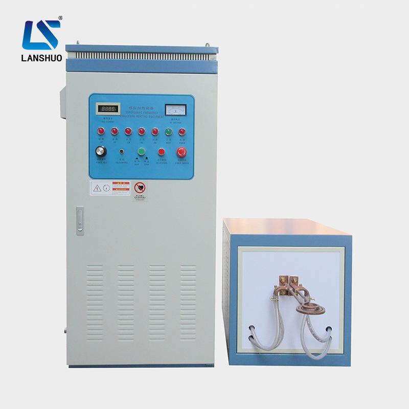 Forja de metal tratamiento térmico inducción generador de calefacción