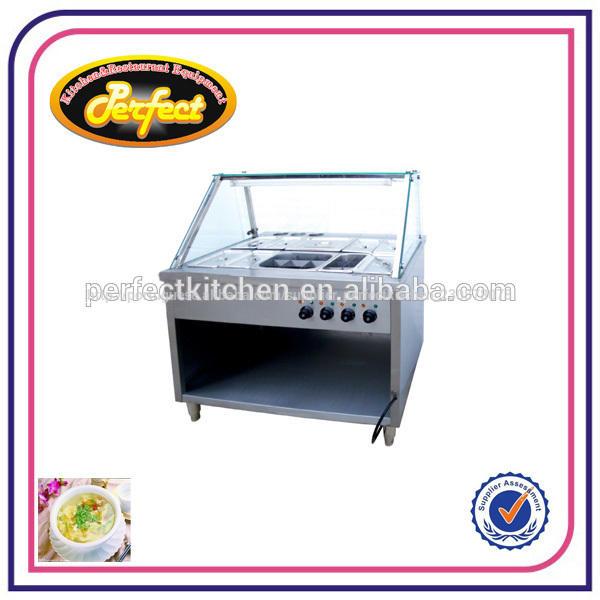 Buffet 6-pan banho-maria quente/equipamentos restaurante bain marie