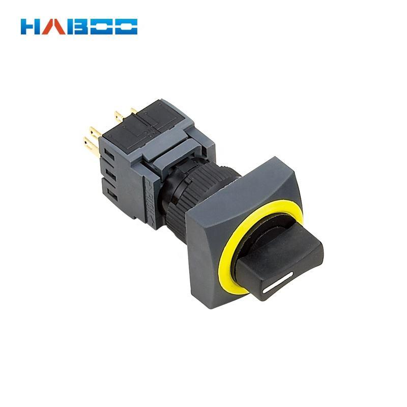 <span class=keywords><strong>Haboo</strong></span> 16mm impermeable IP65 diversos anillo Color 2 o 3 posición Rotary interruptor selector