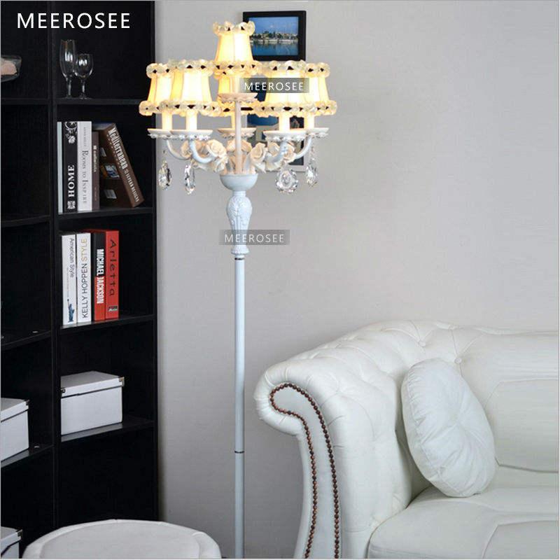 Кристалл напольная лампа Цветок Абажур Освещение MD3139