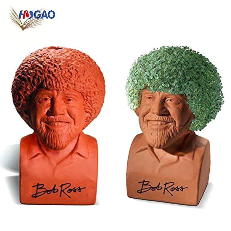 Bob <span class=keywords><strong>Ross</strong></span> poterie planteur main décoratif chia animaux en état tout neuf