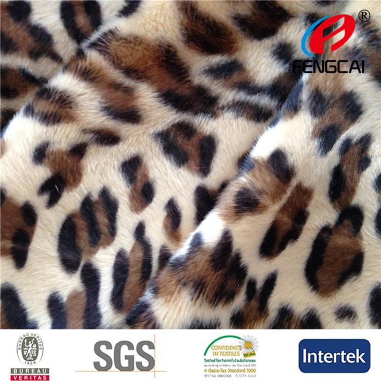 Leopard Brown <span class=keywords><strong>Velboa</strong></span> / <span class=keywords><strong>Velboa</strong></span> impresión Fake Fur / Animal de la impresión <span class=keywords><strong>Velboa</strong></span> / Animal de la impresión de <span class=keywords><strong>terciopelo</strong></span>