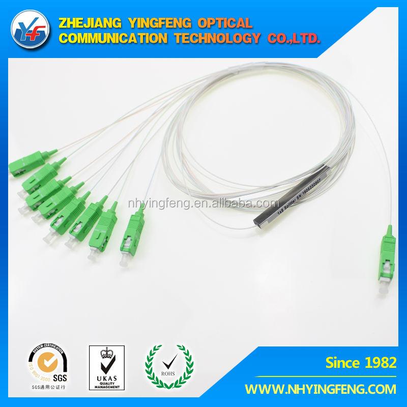 caliente De Fibra óptica 1X8 PLC Splitter conector SC de APC 3 ventanas usd en óptica caja de terminales armario de distribución