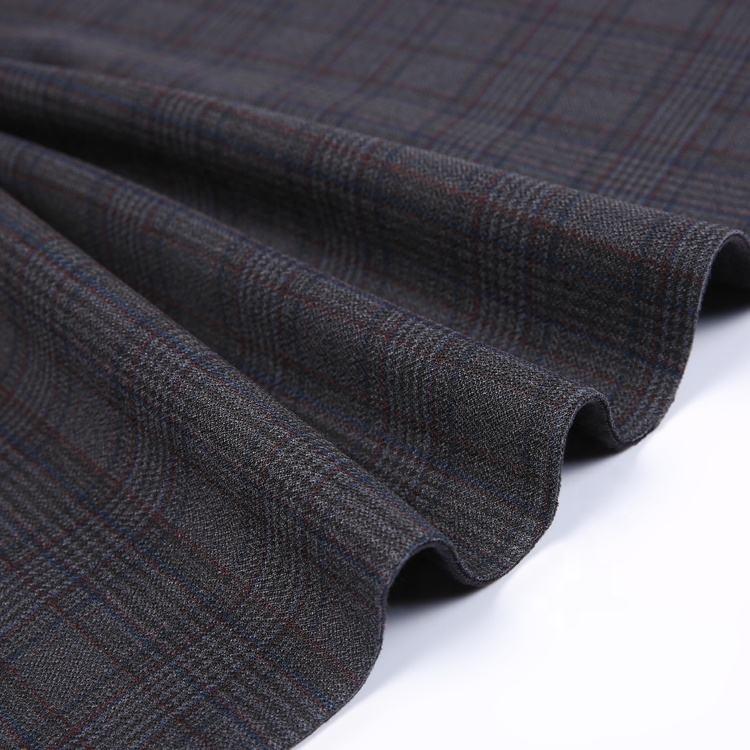 Noir 4 voies stretch composite réversible en laine polaire tissu polaire à carreaux