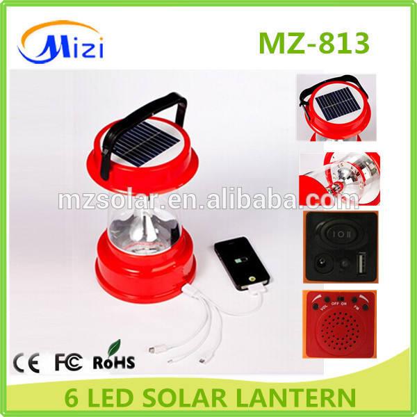 6 unids LED, Super brillante iluminación LED que acampa linterna de energía solar, <span class=keywords><strong>brillo</strong></span> ajustable, mango, 4