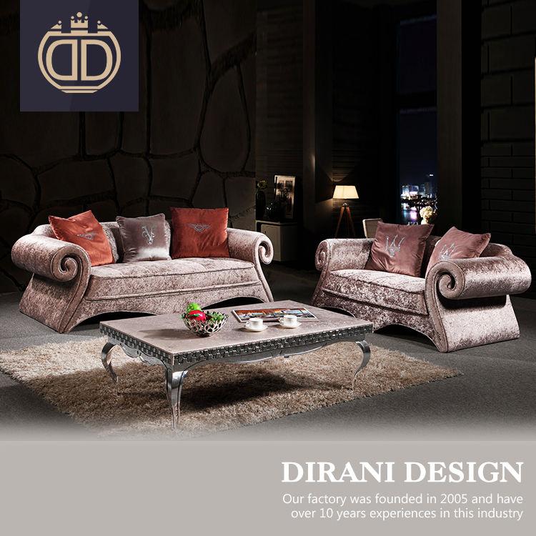Цветочный дизайн королевские свадебные уникальная форма пены диван <span class=keywords><strong>коричневый</strong></span> золотой цветочный бархат дизайн Честерфилд диван
