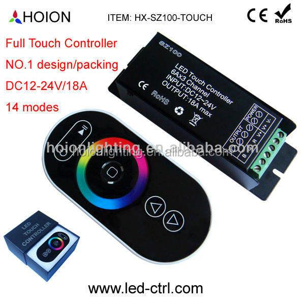 2015 새로운 제품 RF 무선 터치 컨트롤러 RGB LED 스트립 6a*3 12V 24V 채널