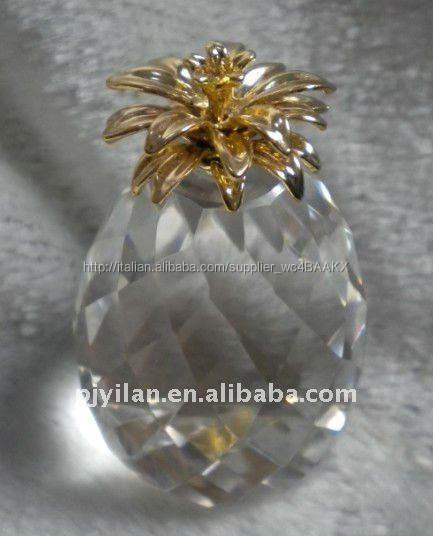 moda decorativa gran forma <span class=keywords><strong>ananas</strong></span> di cristallo per la decorazione domestica