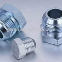 Stahl kontermutter hydraulikschlauch beschlag, männlichen edelstahl gewindemutter und bolzen