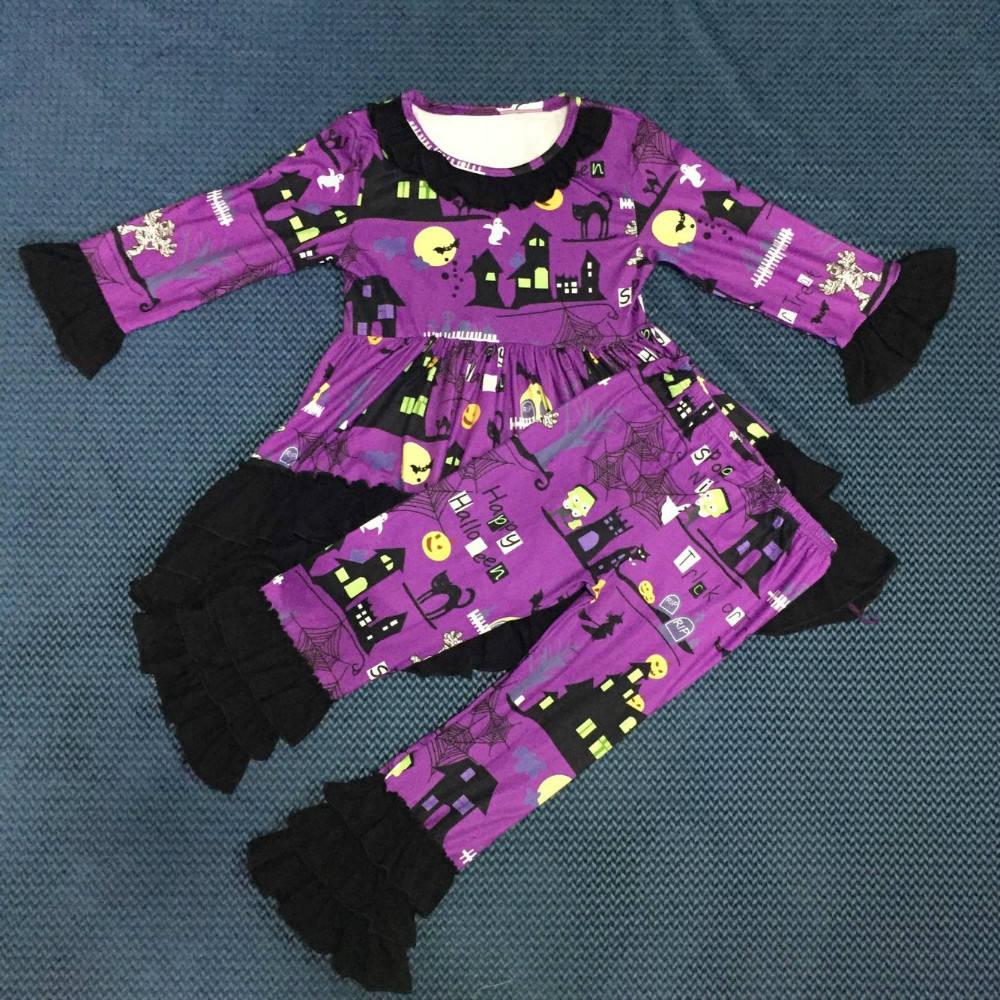 WY-003 костюм ведьмы на хэллоуин Дети младенца одевают кальсоны сборок одежды