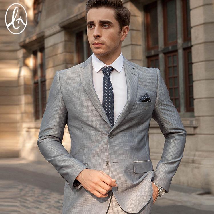 2 pieces slim fit homens de negócios ternos feitos sob medida ternos slim fit para o homem