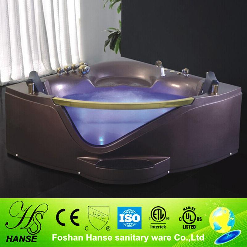 HS-B290A best selling dois banhos pessoa nova jet massagem banheira com vidro temperado