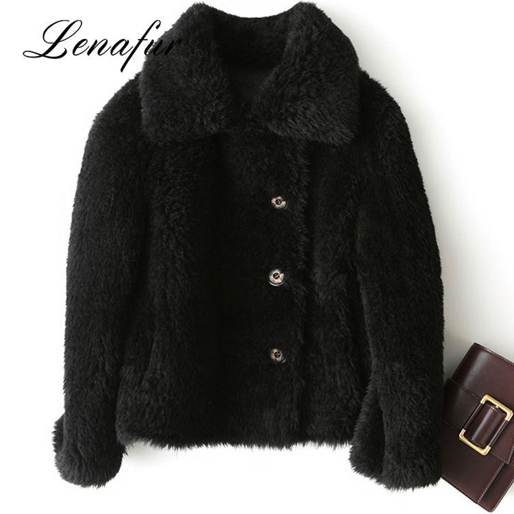 Fábrica precio al por mayor abrigo de piel de ovejas, por encargo cuero doble cara ovejas Shearling abrigo de piel de lana