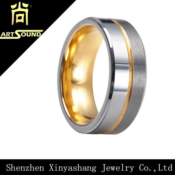 tungstênio homens de ouro bombeiro anel de noivado