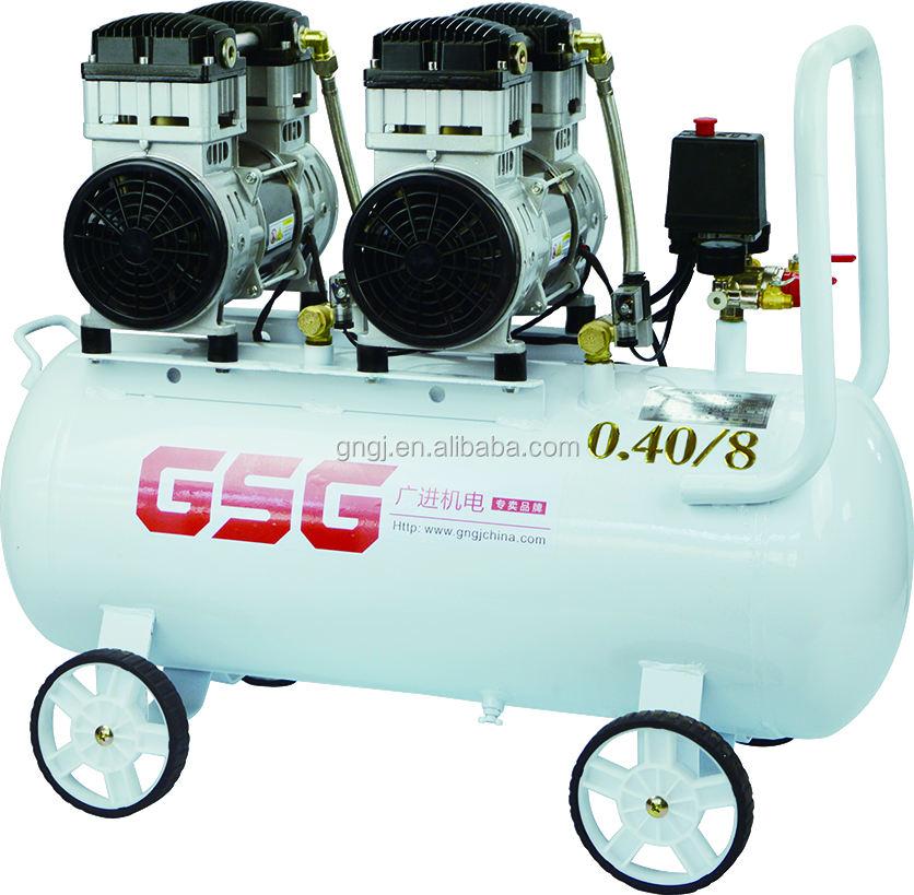 127 V/220 V 60 HZ Oil free Air compressor para odontologia