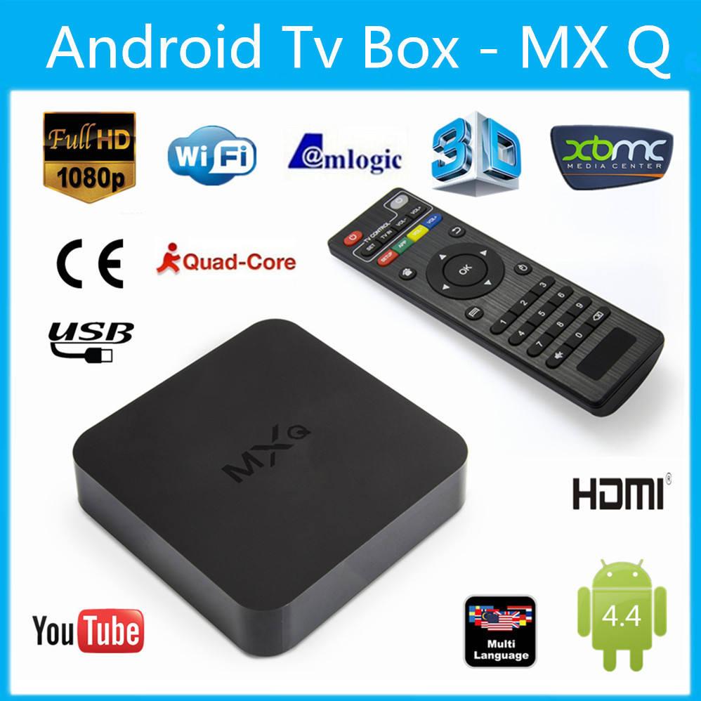 Ott tv box iptv boxandroid smart tv box amlogic mxq s805 sem fio home theater xbmc / kodi pré-instalado