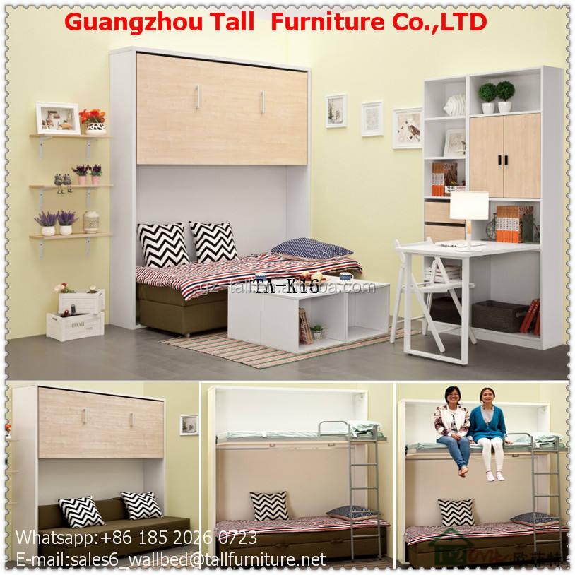 Chine célèbre marque meubles Ovite mur lit chambre ensemble pliage murphy lits