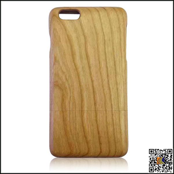Diseño de encargo de madera caja del teléfono celular para el iphone 6 más, madera cubierta protectora