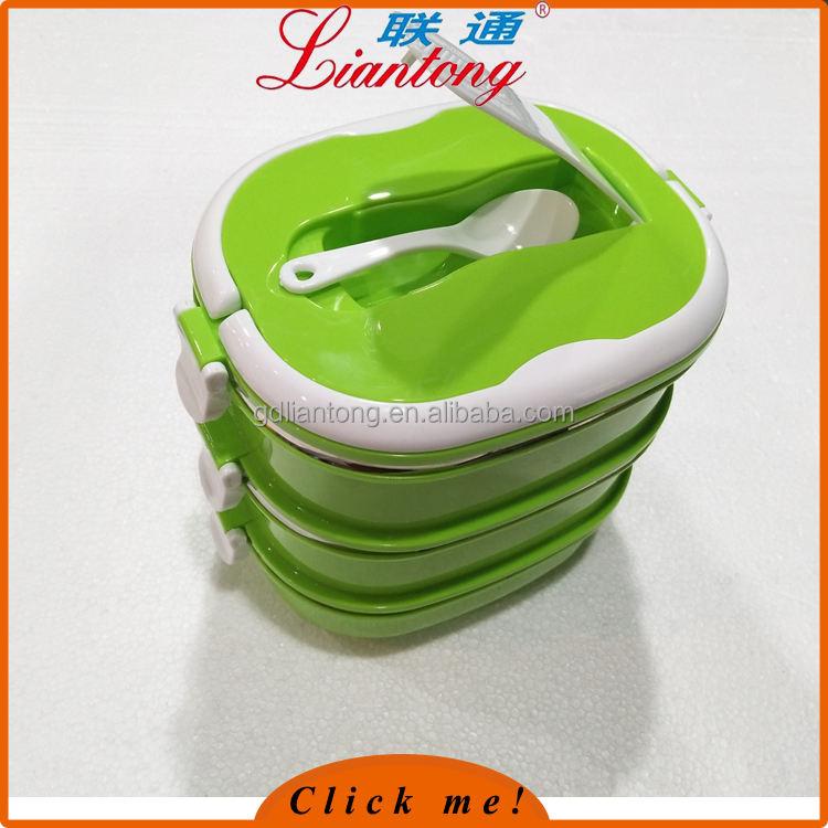 """Лидер продаж из нержавеющей стали теплоизолирующего lunchboxes прямоугольной формы """"Ланч-бокс"""" с ложкой"""