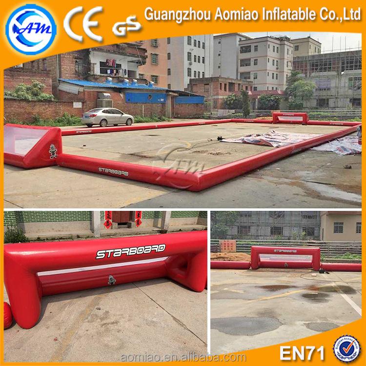 Haute qualité rouge PVC gonflable savon terrain de football gonflable terrain de football à vendre