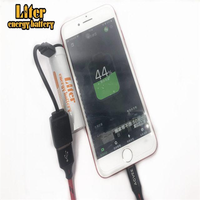 PCM USB intégré 3.7 V 3400 mAh 18650 Li-Ion batterie rechargeable double usb bricolage puissance banque li-ion usb 18650 batterie 3400 mAh