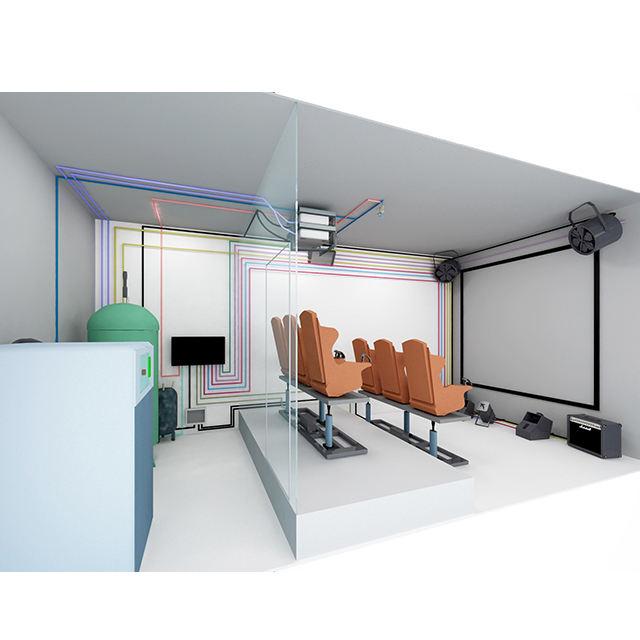 Venta caliente camión móvil 9d cine 7d teatro 5d película cine simulador para la venta