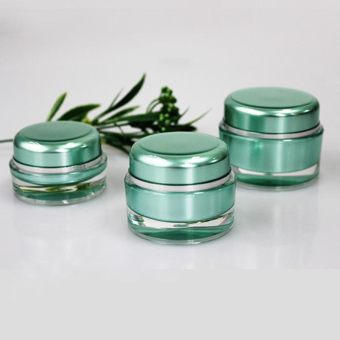Bocaux en verre avec couvercles à charnières vov cosmétique biodégradable cosmétique conteneurs