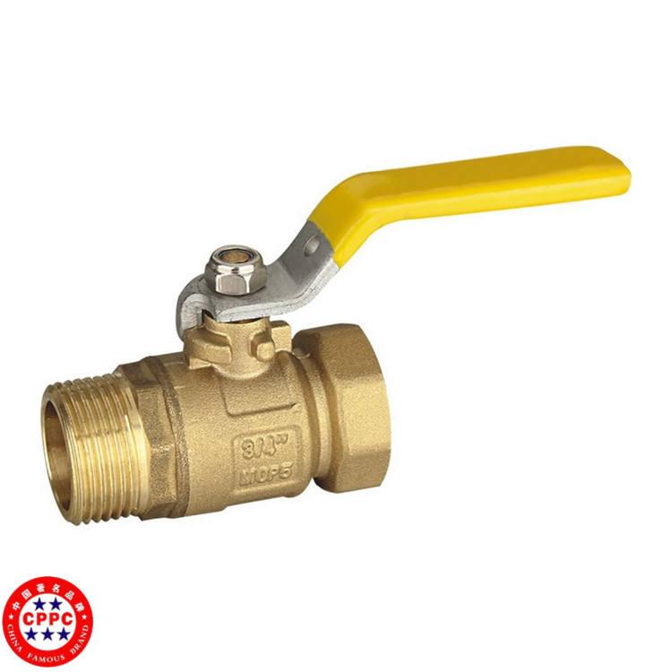 Alibaba laiton robinet à tournant sphérique en cuivre costume pour l'eau / gaz / huile 1pc vannes fournisseur