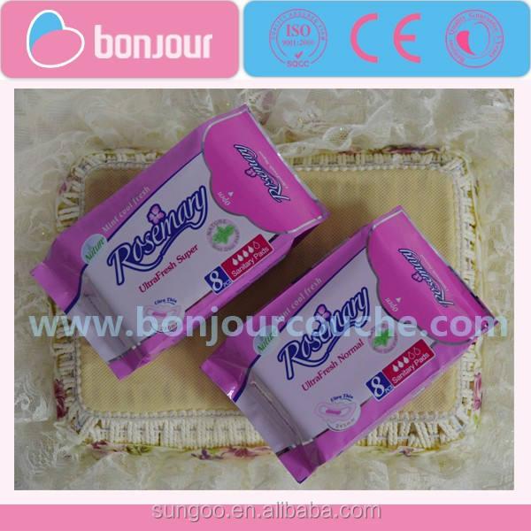 Romarin femmes serviettes hygiéniques / Pads murmure serviettes hygiéniques gros