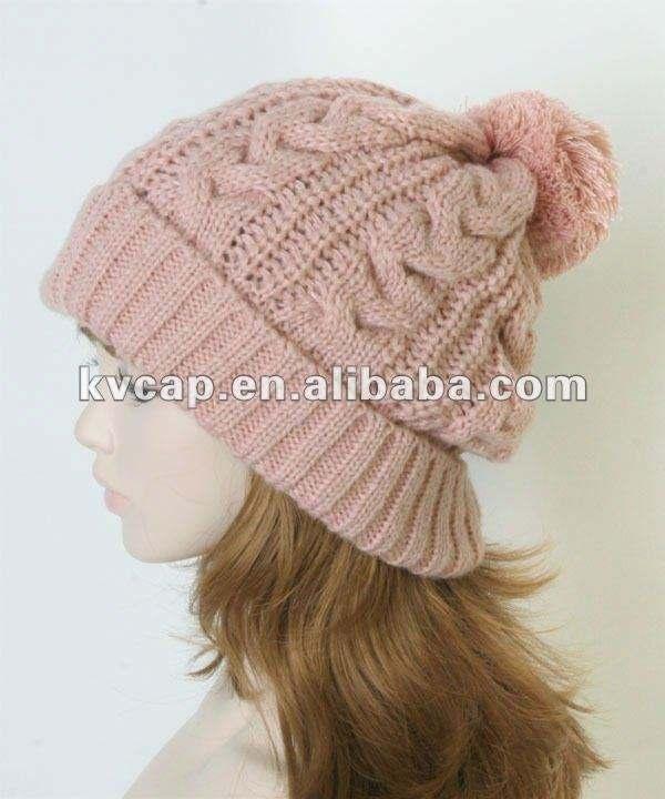 <span class=keywords><strong>2012</strong></span> moda inverno quente tricô listrado chapéu com guaxinim peles bola