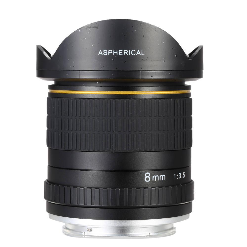 Lightdow 8mm F3.5 Asferica Circolare Ultra Ampio Fisheye Lens per 550D 650D 750D 77D 80D <span class=keywords><strong>1100D</strong></span> Cannone Mezzo Telaio telecamere