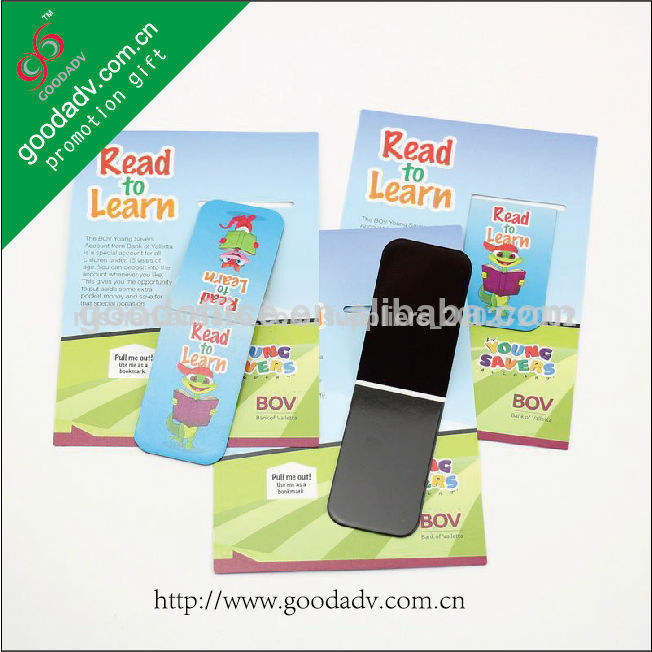 Magnetic bookmark promotional gift magnetic clip bookmark