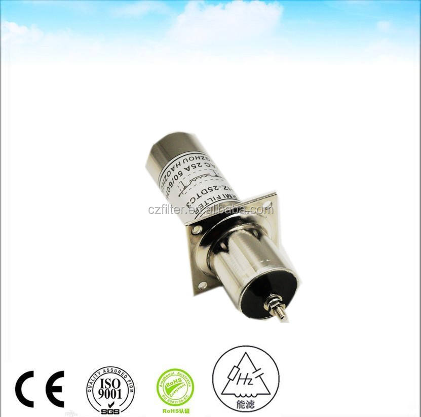 производство, 250 В Переменный Ток 25 А проходной emi фильтр