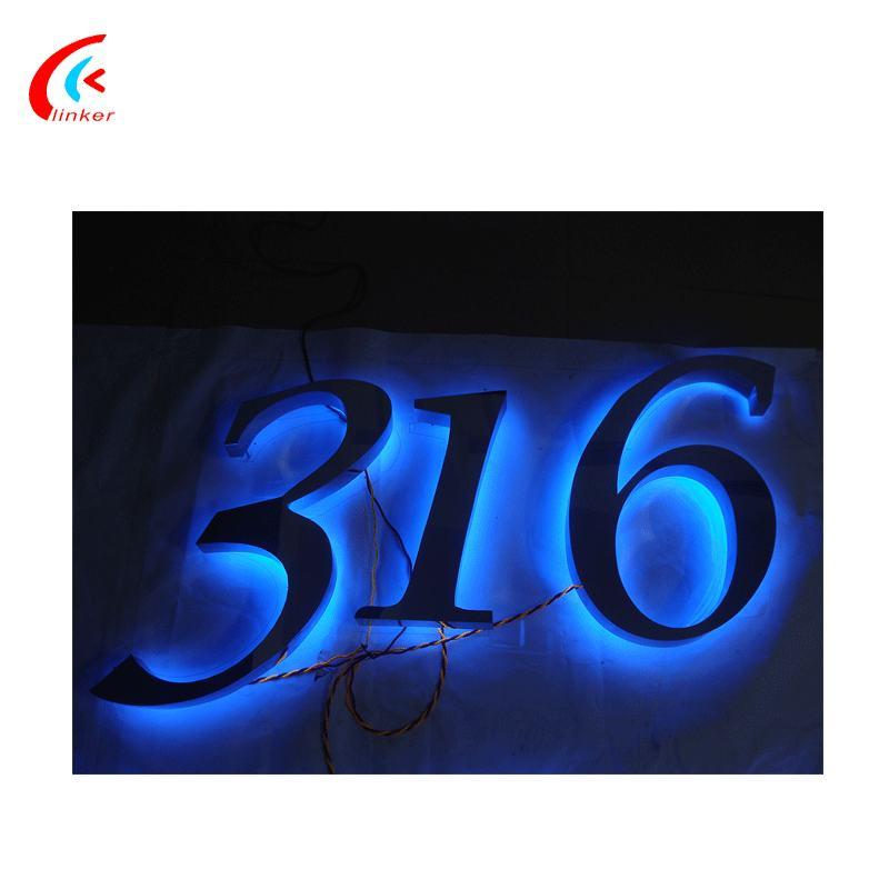Faible Consommation led lumière led rétro-éclairé lettre signe