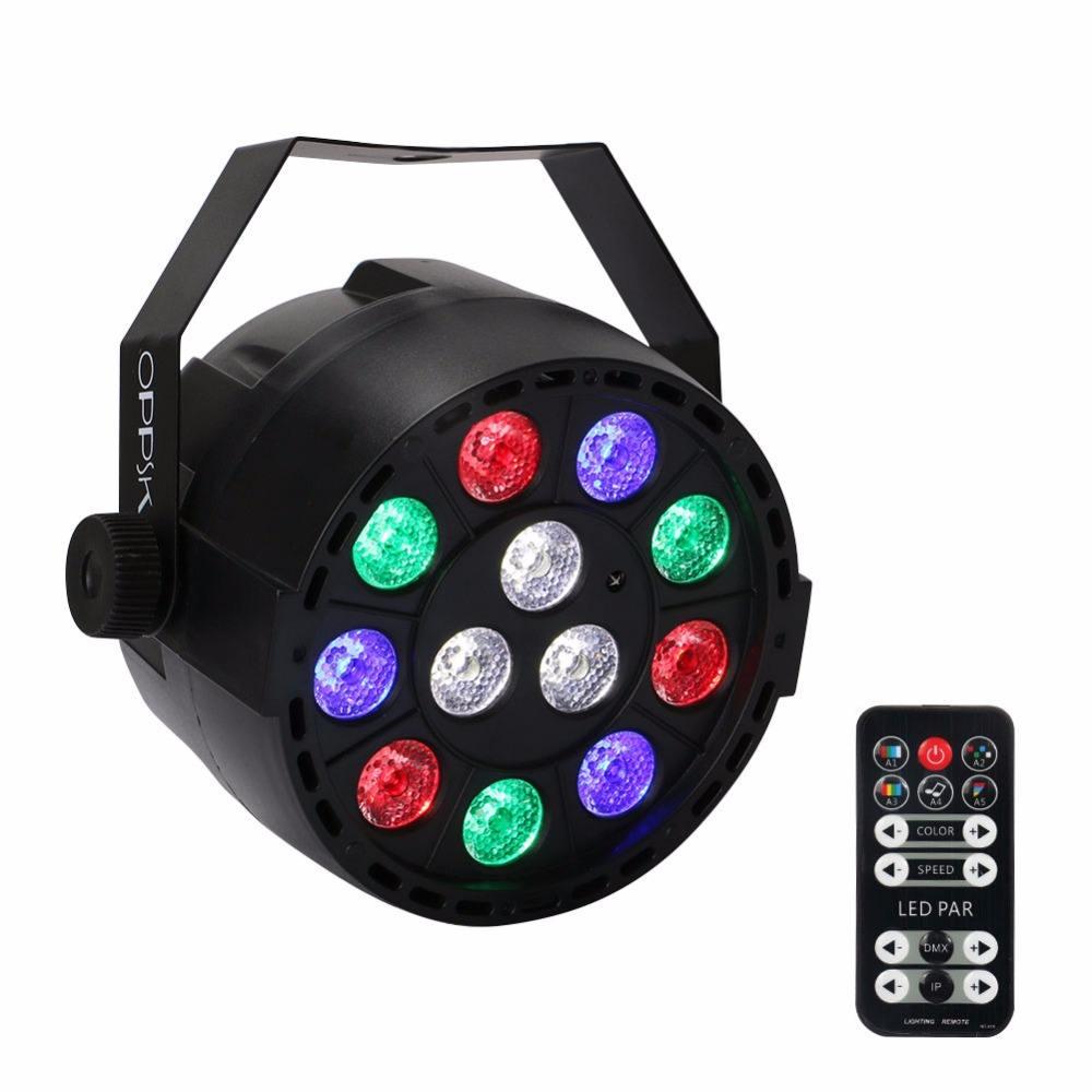 12 индикатор батареи номинальной света RGBW Беспроводной свет этапа для DJ партии освещение, 8 часов воспроизведения