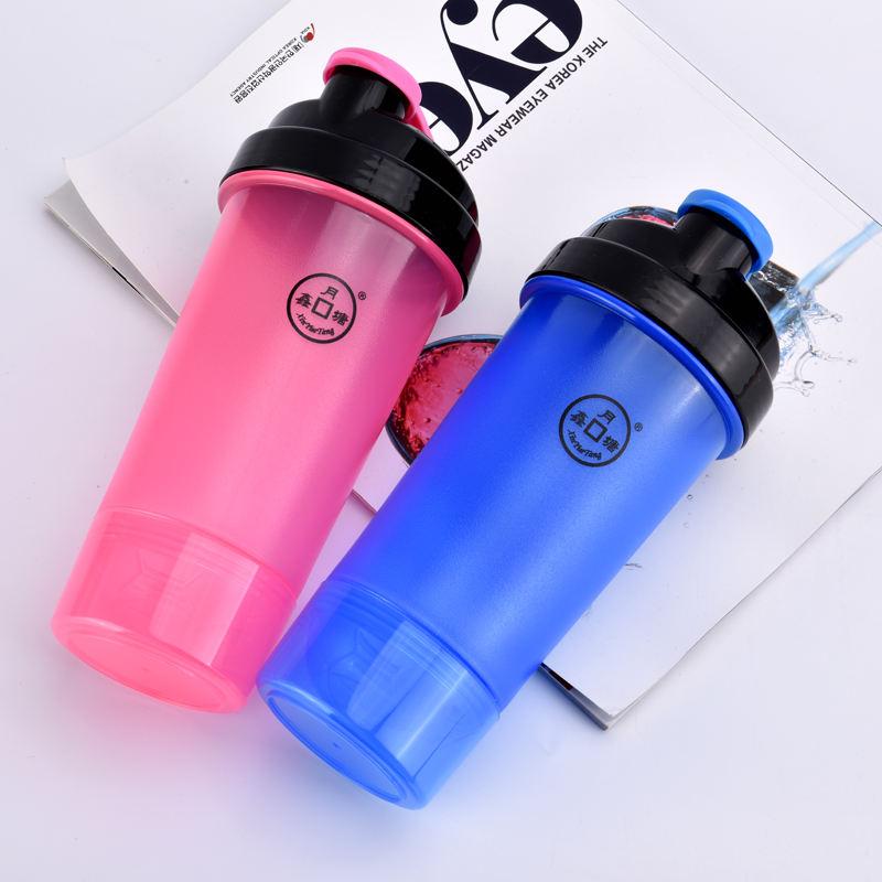600 ml 20 unze PP Kunststoff Leere Protein Shaker Mit Zusätzlichen Speicher