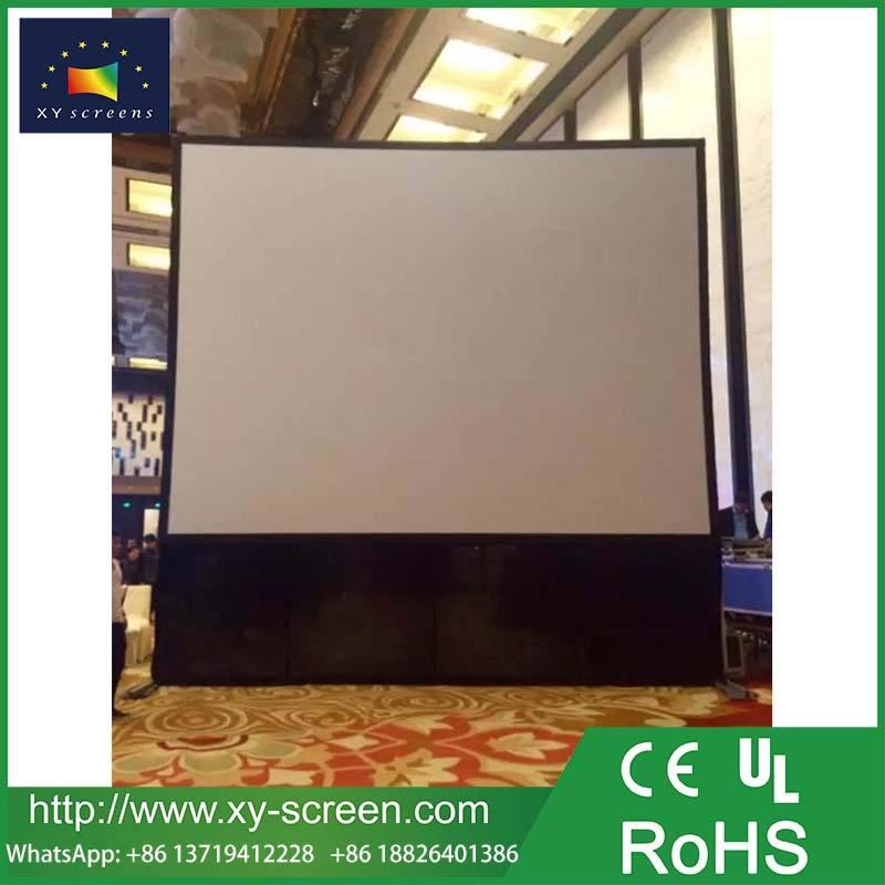360 gradi a due lati anteriore e posteriore schermo piega veloce schermo di proiezione con gonna nera