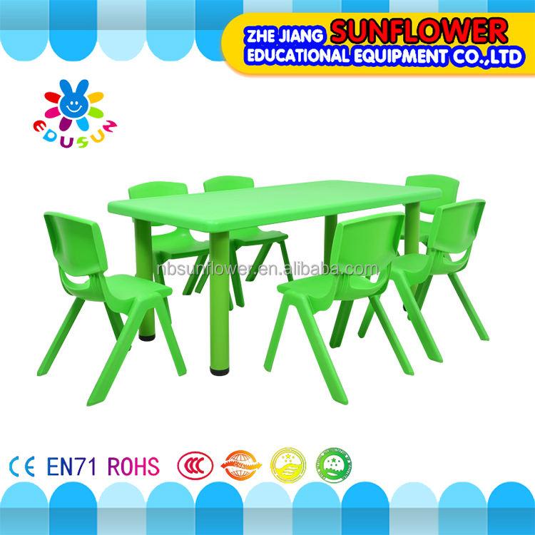 Mesa da escola e cadeira de plástico crianças ama não-tóxico durável mesa da escola e cadeira