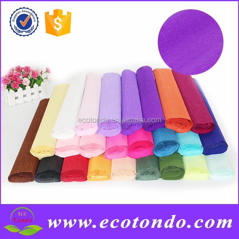 Креп бумага для цветка упаковки, декоративно люминесцентные ремесло стример отпечатано красочные крепированной