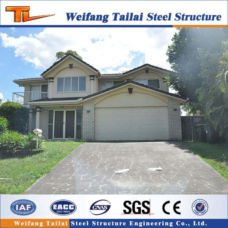 Fabricación de la fábrica más popular creativo metal materiales de construcción ligera estructura de acero villa