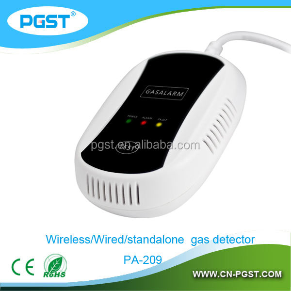 Автономный детектор газа портативный газовый датчик с длительным сроком службы датчик и электромагнитный клапан