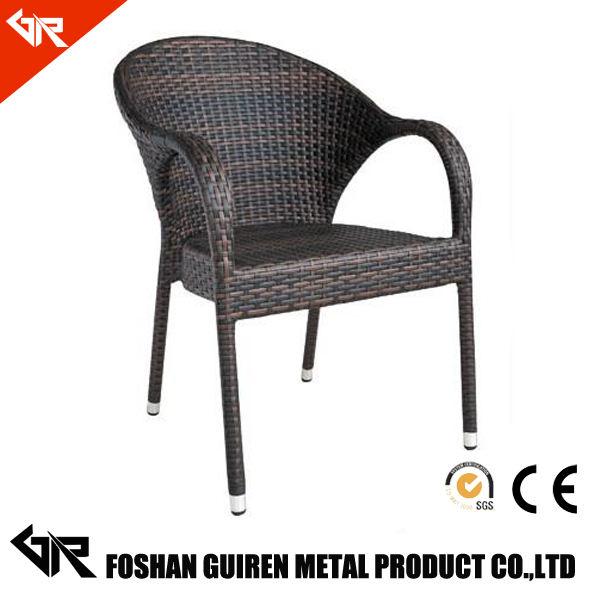 patio silla de jardín de ratán usada para muebles de exterior de mimbre GR-R11022