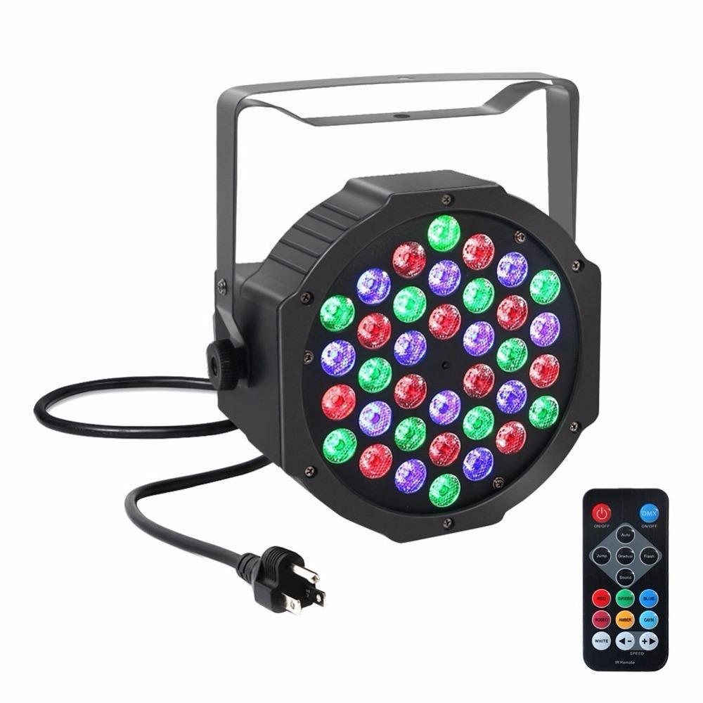 36 LED RGB номинальной света DMX512 свет этапа с пультом дистанционного управления для DJ этап Освещение